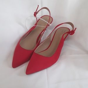 9260749dce7 👡a new day MEGHAN red suede kitten heel pumps 8